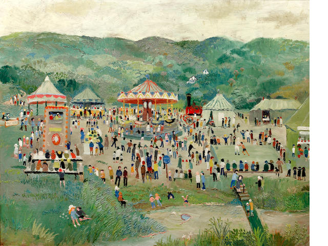 Fred Yates (British, 1922-2008) The Fairground