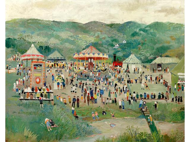 Fred Yates (British, 1922-2008) The Fairground