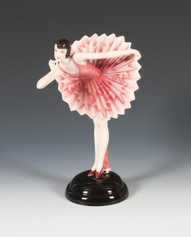 A Goldscheider figure of a lady by Stefan Dakon