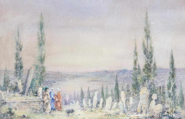 Manner of Angelos Giallina View of Istanbul from Eyoub