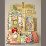A fold-out three-dimensional ornate House in the Sky Valentine's card
