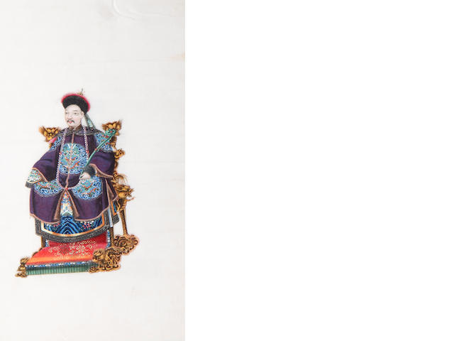 School of Youqua (Chinese, active circa 1840-1870) An album of twelve court figures each 26 x 17cm (10 1/4 x 6 11/16in), (12).
