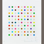 Damien Hirst (British, born 1965) Spot print Screenprint in colours, on wove, signed, numbered 120/500 and inscribed 'For Ian' in pencil, with full margins, 565 x 500mm (22 1/4 x 19 3/4in)(SH) (unframed)