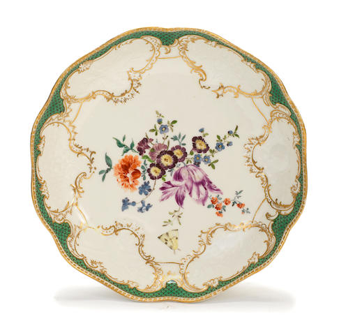 A Meissen lobed circular dish from the 'Ziethen' service, circa 1761