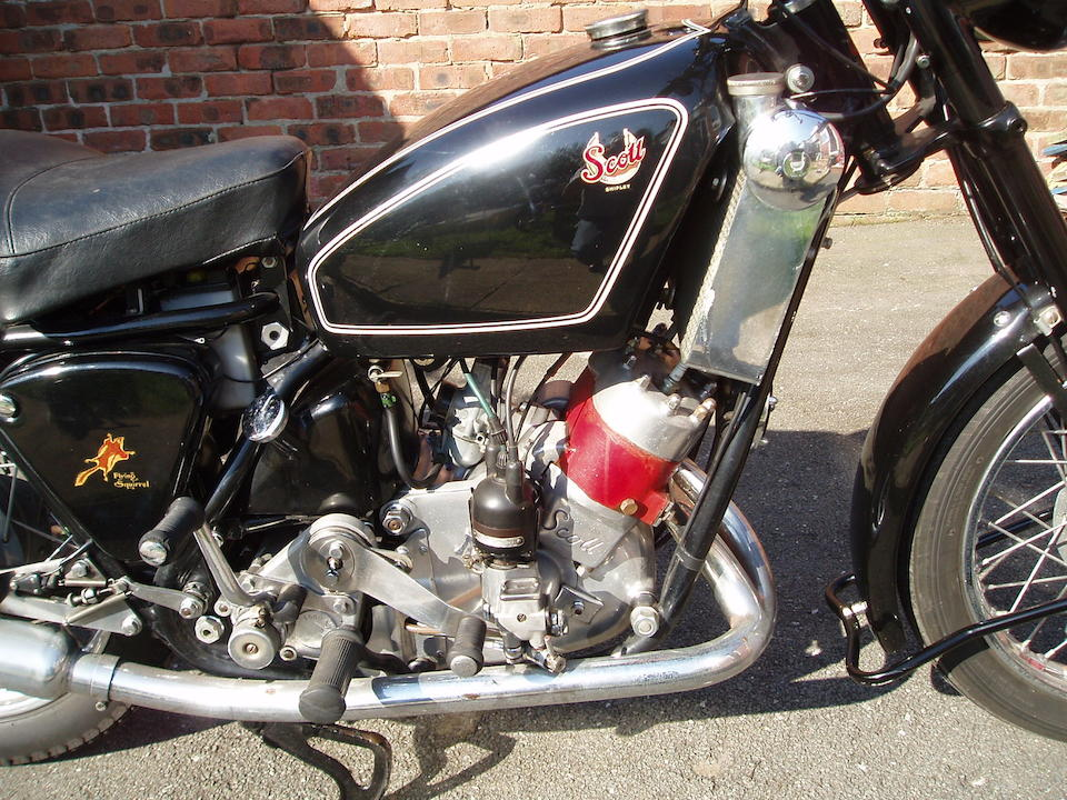 Property of a deceased's estate,1957 Scott 596cc Flying Squirrel Frame no. S1051 Engine no. DPY5436