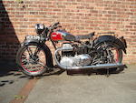 1939 Ariel 601cc Model 4F 'Square Four' Frame no. AX476 Engine no. EE469
