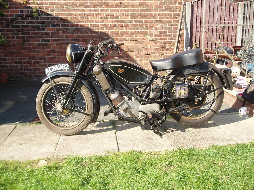 Property of a deceased's estate,1948 Scott 596cc Flying Squirrel Frame no. 4997 Engine no. DPY5097