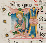 ILLUMINATED MANUSCRIPT Two leaves from an Antiphoner