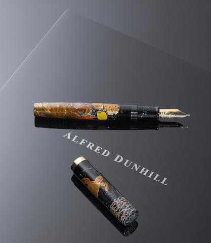 ALFRED DUNHILL-NAMIKI: A new Japanese Namiki Emperor Maki-e lacquer 'Turtle' fountain pen, signed by the Maki-e master Michifumi Kawaguchi,