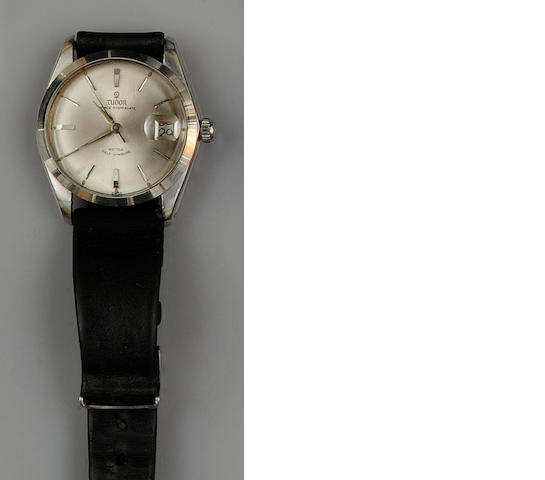 Tudor: A gentleman's stainless steel Prince Oysterdate automatic wristwatch head