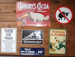 Assorted signs,