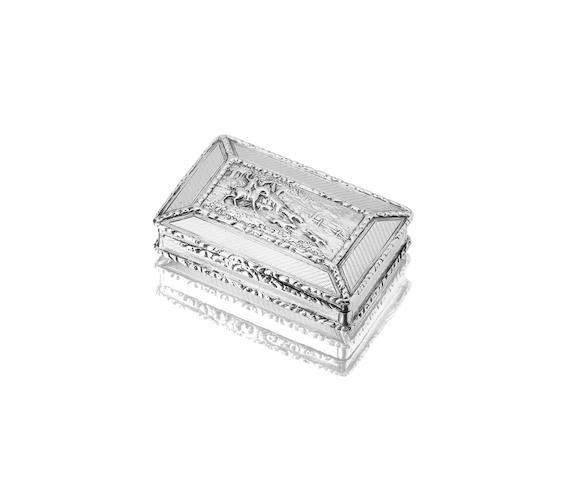 A George IV silver snuff box Probably by Thomas Newbold, Birmingham 1829