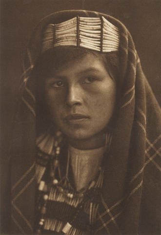 "CURTIS (EDWARD SHERIFF) ""Quinault Female Type"", [c.1912]; together with two additional photogravure portraits of women and 4 others (7)"