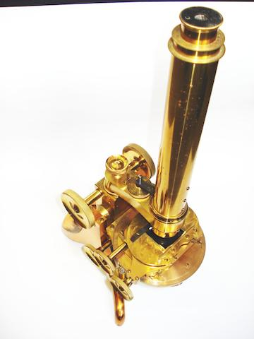 A James Swift compound monocular microscope,  English,  circa 1880,