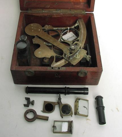 A 7in.(18cm)radius tri circle frame sextant,