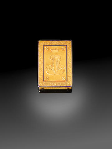 An early 19th century French gold Royal presentation box