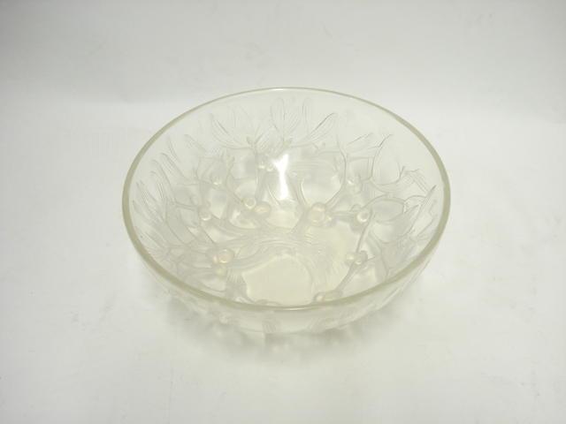 A Lalique opalescent 'Gui' bowl