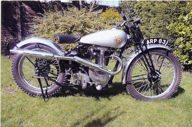 Property of Bernie Leigh,1938 BSA 350cc B24 Silver Star Frame no. KB 241452 Engine no. KB 24790