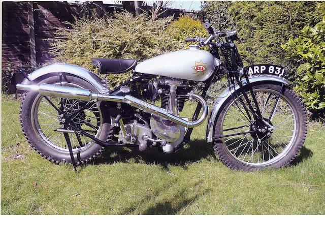 1938 BSA 350cc B24 Silver Star Frame no. KB 241452 Engine no. KB 24790