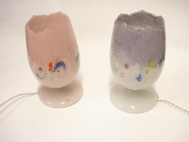 Two Vasart tulip lamps