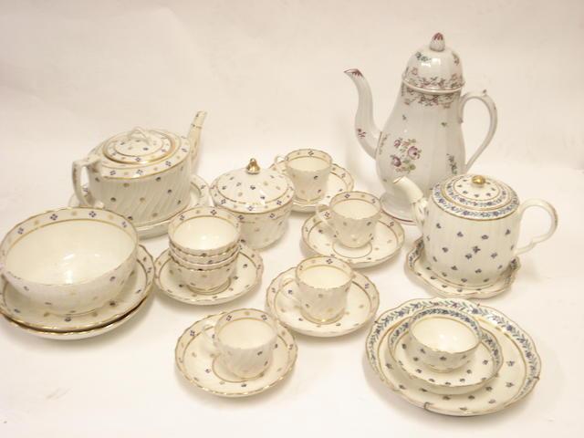 A Regency tea set