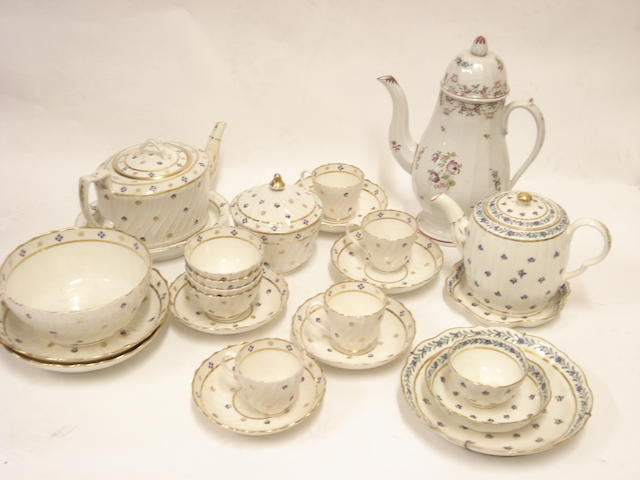 A Regency tea set
