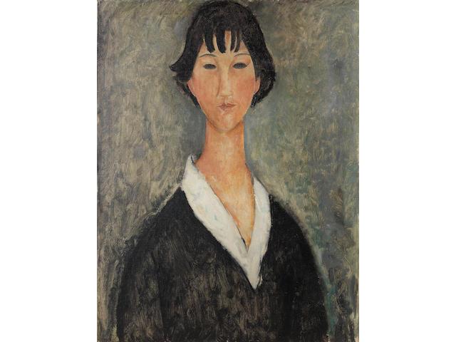 Amedeo Modigliani (Italian, 1884-1920) Jeune fille aux cheveux noirs