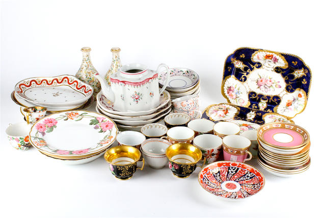 A collection of English porcelain 19th century