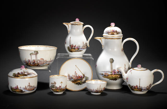 An extensive Meissen tea and coffee service, circa 1765-70