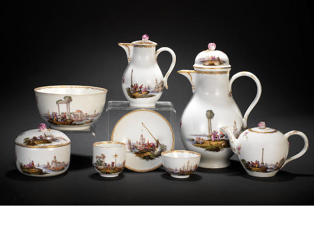 An extensive Meissen tea and coffee service
