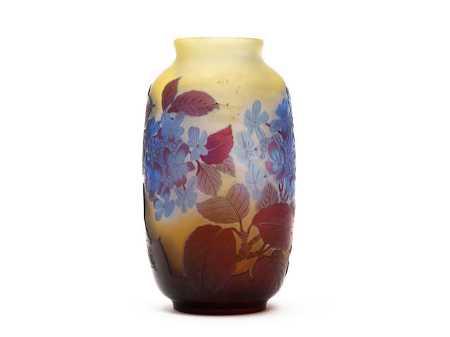 An Emile Gallé cameo glass vase Circa 1900