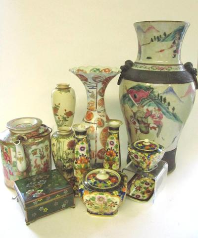 A collection of oriental items 19th and 20th centuries