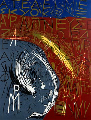 Mimmo Paladino (Italian, born 1948) Olympia, 1988 - Athens Olympic poster