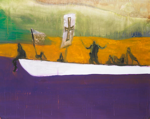Peter Doig (British, born 1959) Canoe Aquatint printed in colours, 2008, on wove, signed, dated and numbered 251/500 in pencil, the full sheet printed to the edges, 750 x 649mm (29 1/2 x 25 1/2in)(SH) (unframed) unframed