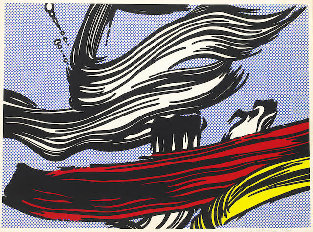 Roy Lichtenstein (American, 1923-1997) Brushstrokes Screenprint in colours, 1967, on wove, the full sheet, signed and numbered 266/300 in pencil, published by the Leo Castelli Gallery, for the Pasadena Art Museum, California, 555 x 765mm (21 3/4 x 30in)(I), 583 x 787mm (23 x 31in)(SH) unframed