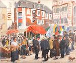 Greville Irwin (British, 1893-1947) Tattenham Corner
