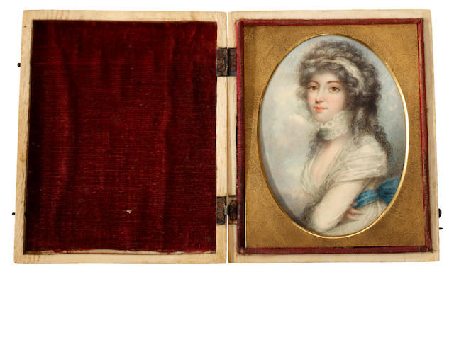 British and Continental Schools, 19th Century A collection of eight portrait miniatures including one decorative copy after Andrew Plimer (British, 1763-1837) and a portrait of Napoléon Bonaparte [1769–1821)