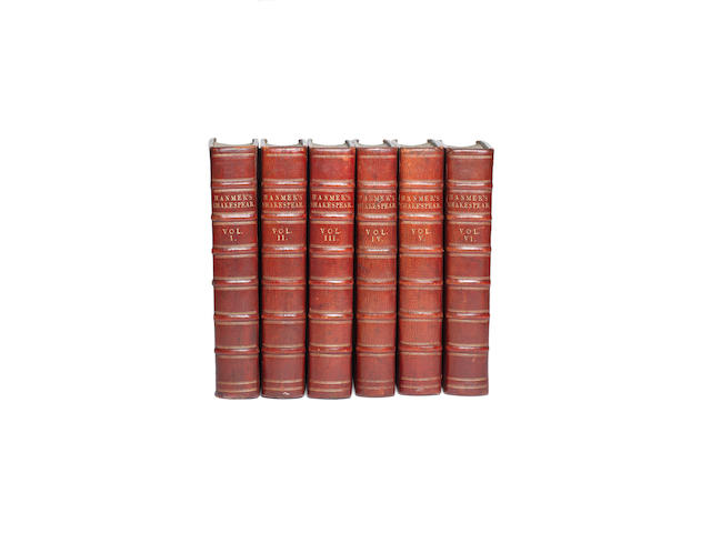SHAKESPEARE (WILLIAM) The Works, 6 vol., 1771-1770