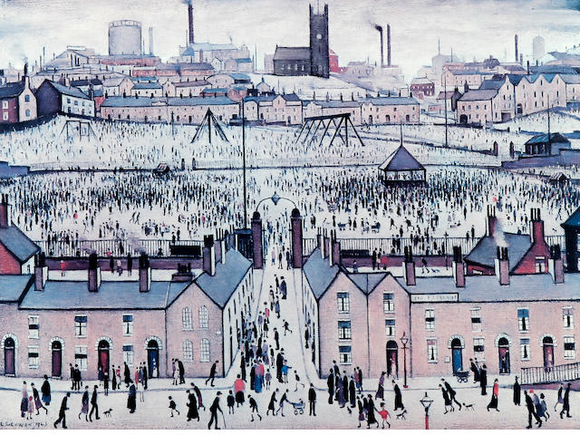 Laurence Stephen Lowry R.A. (British, 1887-1976) 'Britain at Play'