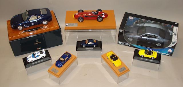 Eight models of Maserati cars,
