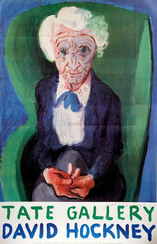 David Hockney R.A. (British, born 1937) 'My Mother Bridlington 1988'