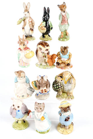 Twelve Royal Albert Beatrix Potter figures