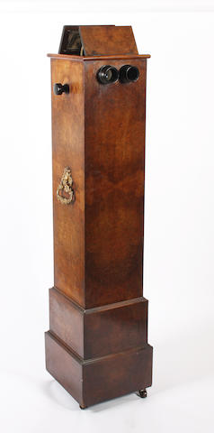 A 19th century floor standing stereoscopic cabinet viewer