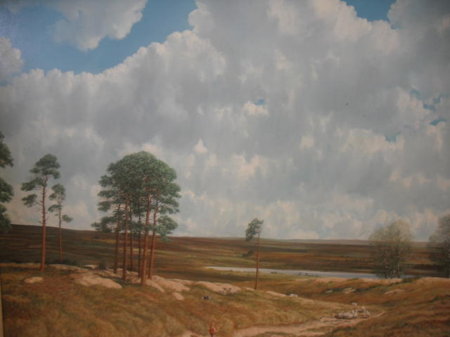 Nicholas Mace (born 1949) Across the moor,
