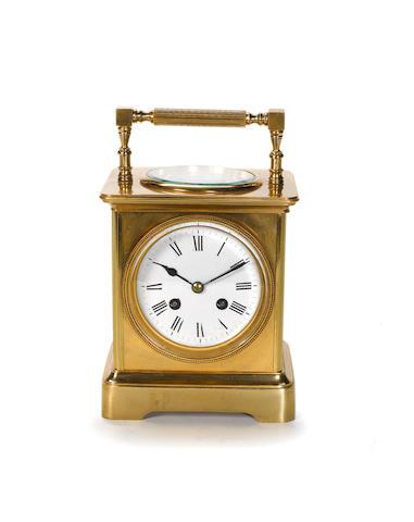 A last quarter of the 19th century gilt brass desk compendium Japy Freres
