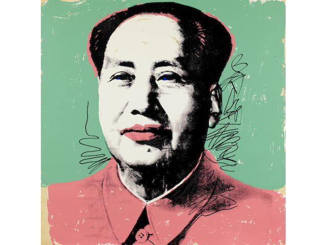 Andy Warhol (American, 1928-1987) Mao Screenprint in colours, 1972, from the portfolio of ten, on Beckett High White paper, signed in ball-point pen and numbered 30/250, with a rubber stamp verso, printed by Styria Studio, Inc., New York, published by Castelli Graphics and Multiples, Inc., New York, 914 x 914mm (36 x 36in)(SH) unframed