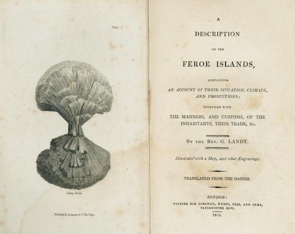 LANDT (JORGEN) A Description of the Feroe Islands... Translated from the Danish., 1810