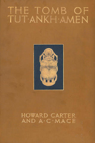 CARTER (HOWARD) and ARTHUR CRUTTENDEN MACE The Tomb of Tut-Ankh-Amen. Discovered by the late Earl of Carnarvon and Howard Carter, 3 vol., [1926-1933]