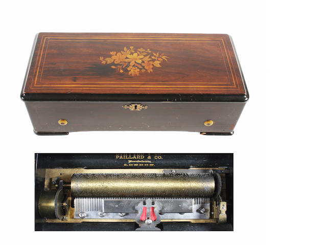 A Piccolo musical box playing eight airs, by Paillard, circa 1887,