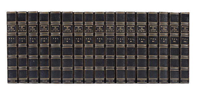BYRON (GEORGE GORDON NOEL, Lord) The Works... with his Letters and Journals, and his Life, by Thomas Moore, Esq., 17 vol., 1833